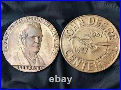 1837 1937 John Deere Hanging Wall Plaque Sign Centennial Dealer Award