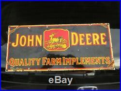 1930's Era John Deere Implement Sign