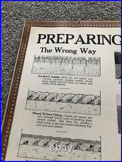 1930s/40s JOHN DEERE Instructional Aid Factory Sign Soils Plow Bottoms Tractor