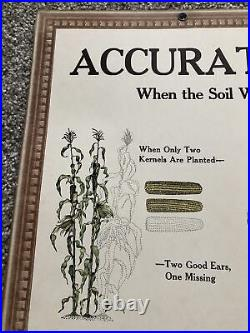 1930s/40s JOHN DEERE Instructional Aid Factory Sign Tractor Corn Accurate Plant