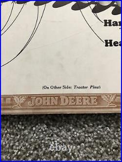 1930s/40s JOHN DEERE Instructional Aid Factory Sign Tractor Plow Disk Tiller