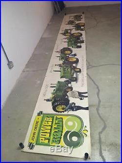 1969 Power Rally John Deere Advertising Banner 18 Feet Long L@@K