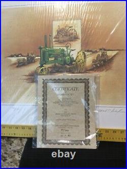 1983 Limited Print #66/950 -1935 JOHN DEERE B TRACTOR EDWARD C SCHAEFER NIB