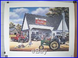 1995 Coca Cola John Deere Fine Art Print Signed Pamela C. Renfroe #1500/1500 New