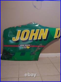 1998 Chad Little John Deere Partial Rear Qtr Signed Nascar Sheetmetal