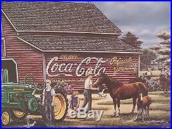 1998 Coca Cola John Deere Fine Art Print Signed Pamela C. Renfroe #1500/1500