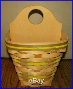 1998 John Deere HANDMADE Divided Wicker Basket Carnation Signed Pewter jd Logo