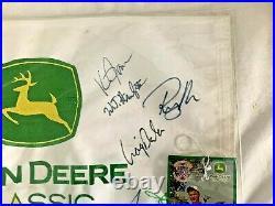2006 John Deere Classic Signed Flag, Bubba Watson, Justin Rose, J. B. Holmes