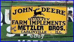 24 John Deere Farm Equipment Porcelain Farm Garage Shop Man Cave