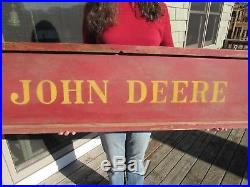 ANTIQUE ORIGINAL 1800's JOHN DEERE DEALER ADVERTISING SIGN WITH REFLECTIVE PAINT
