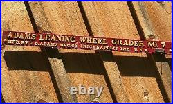 Adams Leaning Wheel Grader No. 7 Antique Tractor Parts Farm Advertising Cast Iron