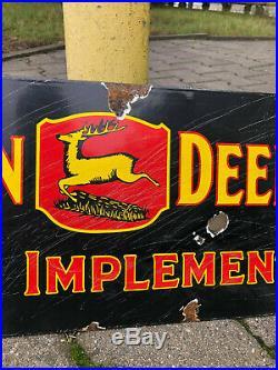 Altes Emailschild Emailleschild Enamel Sign John Deere Farm Implements