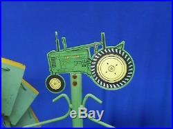 Antique 1936 John Deere Dealer Advertising Sign Wind MILL B Tractor Moline ILL