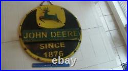 Antique John Deere Sign Very Unique 3D Metal Sign