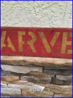 Antique Old Wooden International Harvestor Sign McCormick Deering John Deere