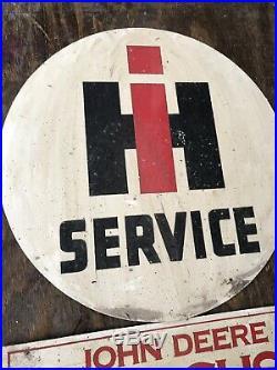 Antique Vintage Old Style IH John Deere Mobil Lion Gas Oil Tractor Sign