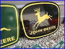 Antique Vintage Old Style John Deere Farm Signs