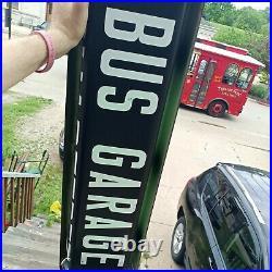 Antique Vtg John Deere Dubuque Iowa Gmc Bus Side Destination Roll Sign Mtl Box