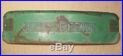 Antique metal nameplate John Deere tractor sign garage farm old original vintage
