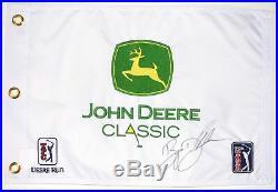 BRYSON DECHAMBEAU 1ST WIN Signed JOHN DEERE CLASSIC Golf Flag