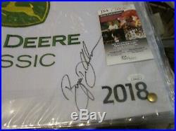 BRYSON DECHAMBEAU Autographed Signed JOHN DEERE CLASSIC PIN FLAG JSA