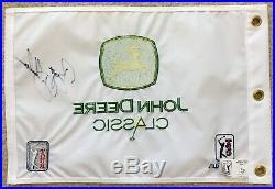 BRYSON DeCHAMBEAU Signed Autographed John Deere Classic Pin Flag, Deere Run, JSA