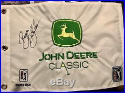 Bryson DeChambeau Autographed Signed John Deere Classic Flag JSA First Win