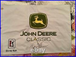 Bryson Dechambeau signed John Deere Classic flag 1st career PGA Win