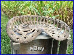 Cast Iron Tractor Seat, Country Farm Implement Sign Fits John Deere Champion a26