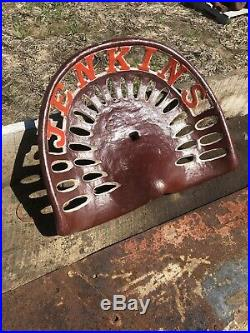 Cast Iron Tractor Seat Country Farm Implement Sign John Deere Jenkins Barn Wood