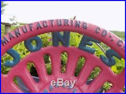 Cast Iron Tractor Seat Country Farm Implement Sign John Deere Jones a 41