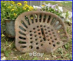 Cast Iron Tractor Seat Country Farm Implement Sign Planter Fits John Deere a33