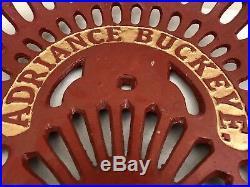 Cast Iron Tractor Seat Farm Implement Sign John Deere Adriance Buckeye a37