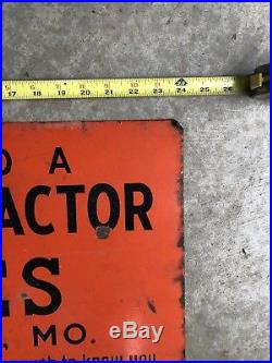 Caterpillar Case Cat Crawler tractor sales service Porcelain sign John Deere
