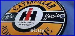 Caterpillar John Deere Porcelain Vintage Style Tractor Dealership Service Sign