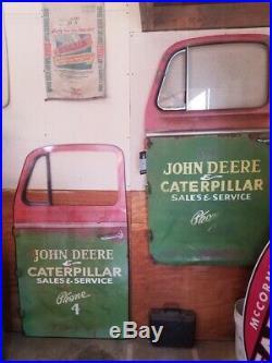 Caterpillar John Deere Service Truck Sign