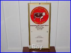 Cross Brothers Meat Packers Metal Calendar 1976