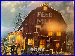 Dave Barnhouse Tales Of The Day Signed Print 32 x 21 John Deere Themed