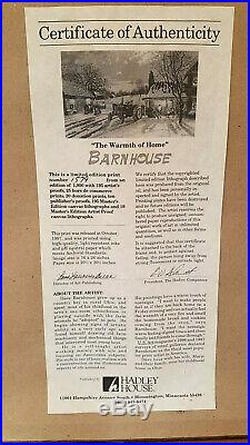 Dave Barnhouse The Warmth of Home John Deere theme signed/numbered print
