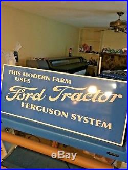 FORD TRACTOR SIGN Ferguson System VINTAGE LOOK JUMBO 59x24 JOHN DEERE OLIVER IH