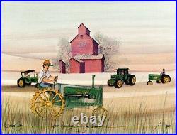 FOUR GENERATIONS OF JOHN DEERE Pat Buckley Moss Ltd Ed Print