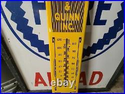 Fresnos Pioneer Tractor Firm John Deere Caterpillar Porcelain Thermometer farm