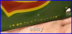 Giant 36 John Deere Porcelain Farming Implements Porcelain Sign Green & Yellow