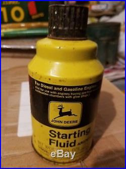 Hard to Find John Deere Starting Fluid Can Sign Oil Gas Farm Tractor Plow Engine