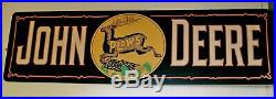 Huge John Deere Plows Dealership Sign
