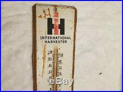 IH International Brainard NE Thermometer Sign Farm Tractor Original Vintage Old