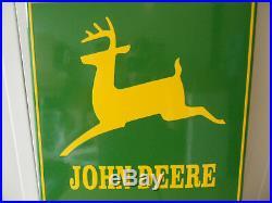 JOHN DEERE Agriculture Equipment Sub Dealer Service Porcelain Enamel Sign #580