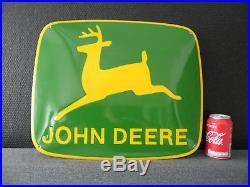JOHN DEERE Agriculture HQ Heavy Steel / Porcelain / Enamel / Emaille Sign #253