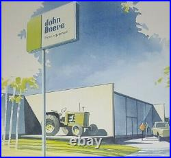 JOHN DEERE Dealership Architectural Drawing Ted Will 1968 RARE