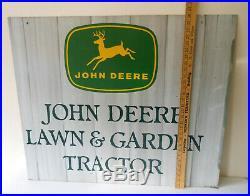JOHN DEERE Dealership Sign2 SIDEDHANGING Lawn & Garden TractorLARGE 36 x30